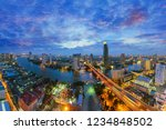 bangkok   thailand city skyline....   Shutterstock . vector #1234848502
