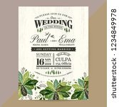 floral wedding invitation card... | Shutterstock .eps vector #1234849978