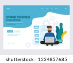 programming and software... | Shutterstock .eps vector #1234857685