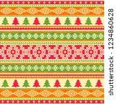ornamental knitted pattern.... | Shutterstock .eps vector #1234860628