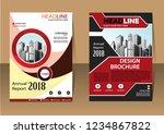 vector template brochure design ... | Shutterstock .eps vector #1234867822