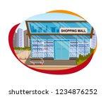 the concept shopping mall... | Shutterstock .eps vector #1234876252