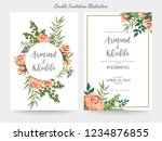 floral wedding invitation... | Shutterstock .eps vector #1234876855