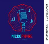 microphone logo icon outline... | Shutterstock .eps vector #1234880905