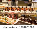 decorated catering banquet... | Shutterstock . vector #1234881085