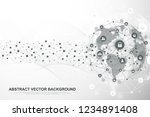 global structure networking and ... | Shutterstock .eps vector #1234891408