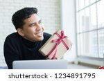 close up young man smiling and... | Shutterstock . vector #1234891795