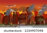 vector illustration disaster... | Shutterstock .eps vector #1234907098