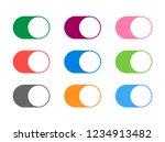 modern flat set buttons switch...