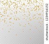 golden glitter confetti vector. ...   Shutterstock .eps vector #1234916152