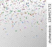 color glitter confetti vector.... | Shutterstock .eps vector #1234917172
