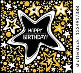 happy birthday card.... | Shutterstock .eps vector #1234917388