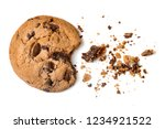 chocolate chip cookie with... | Shutterstock . vector #1234921522