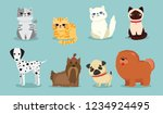 vector illustration set of cute ... | Shutterstock .eps vector #1234924495