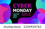 cyber monday concept banner in... | Shutterstock .eps vector #1234924762