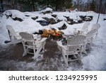 firewood pit surrounded by... | Shutterstock . vector #1234925995