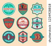 extreme surfing camp vintage... | Shutterstock . vector #1234928818