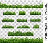 big set green grass borders... | Shutterstock .eps vector #1234932382