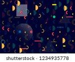 memphis vector design  simple... | Shutterstock .eps vector #1234935778