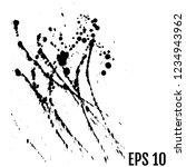 abstract black ink blot... | Shutterstock .eps vector #1234943962