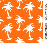 seamless pattern with palm... | Shutterstock .eps vector #1234945222