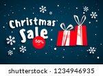 the christmas sale. advertising ...   Shutterstock .eps vector #1234946935