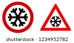 careful snow   cold   winter... | Shutterstock .eps vector #1234952782