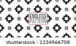 tribal squares and dots.... | Shutterstock .eps vector #1234966708
