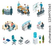 corporate office life isometric ... | Shutterstock . vector #1234970365