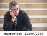 unemployed old asian business... | Shutterstock . vector #1234972168