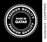 made in qatar emblem  label ...   Shutterstock .eps vector #1234979695