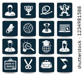 education vector icon set | Shutterstock .eps vector #1234981588