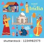 indian vector set.taj mahal ...   Shutterstock .eps vector #1234982575