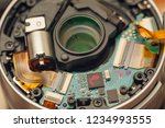 back of a disassembled photo... | Shutterstock . vector #1234993555