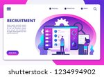 recruitment concept. hire...   Shutterstock .eps vector #1234994902