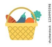 basket   vegetable   eggplant   | Shutterstock .eps vector #1234995598