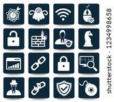 anti virus computer vector icon ... | Shutterstock .eps vector #1234998658