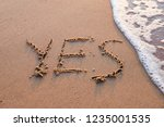 word yes hand written on the... | Shutterstock . vector #1235001535