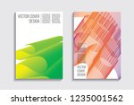 blended covers with gradient... | Shutterstock .eps vector #1235001562