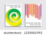blended covers with gradient... | Shutterstock .eps vector #1235001592