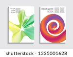 blended covers with gradient... | Shutterstock .eps vector #1235001628