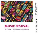 music festival. music... | Shutterstock .eps vector #1235008378