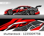 vehicle graphic livery design... | Shutterstock .eps vector #1235009758