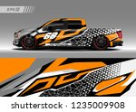 vehicle graphic livery design... | Shutterstock .eps vector #1235009908