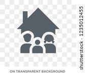 household icon. trendy flat... | Shutterstock .eps vector #1235012455