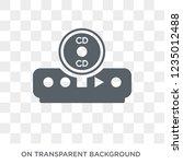 cd player icon. trendy flat... | Shutterstock .eps vector #1235012488