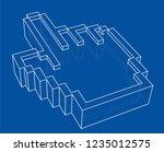 pointer hand icon. vector... | Shutterstock .eps vector #1235012575