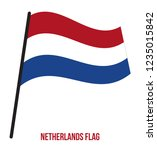 netherlands flag waving vector... | Shutterstock .eps vector #1235015842