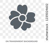 geranium icon. trendy flat... | Shutterstock .eps vector #1235024602