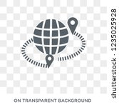 geo targetting icon. trendy... | Shutterstock .eps vector #1235025928
